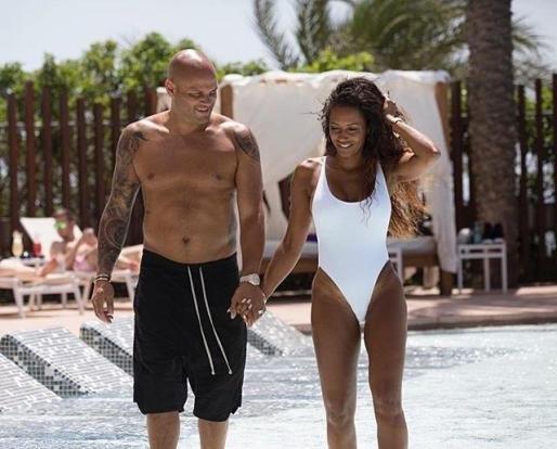 La Spice Girl Mel B y su marido, de vacaciones en Ibiza