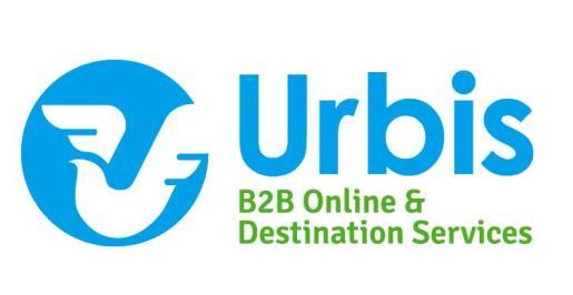 Logo de Viajes Urbis, una compañía de viajes B2B Online & Destination Services.