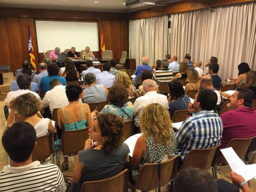 Momento de la reunión de este viernes con los representantes de los ayuntamientos de de Mallorca para explicar el Pla Especial d'Inversions Financerament Sostenibles.