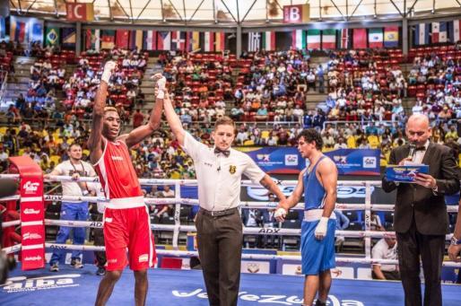 Youba Sissokho tras su victoria ante Goyat Neeraj.