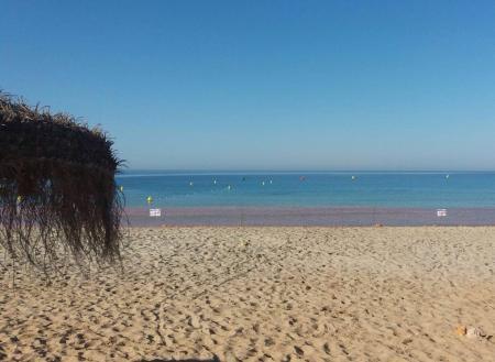 La playa de Son Xoriguer, este lunes.