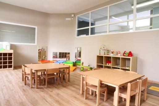 Una de las aulas del centro infantil Dragonfly British Nursery.