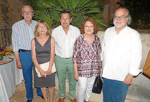 Pere Comas, María Cortés, Pep Oliver, Ana Morro y Andreu Manresa.