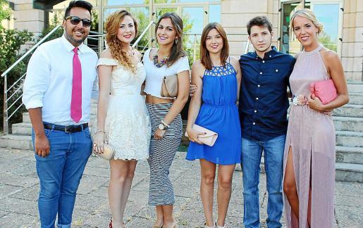 Cheikh Ammed, Aina Oliver, María Antónia Oliver, Laura Castillo, Carlos Bobadilla y Cristina Alcover.