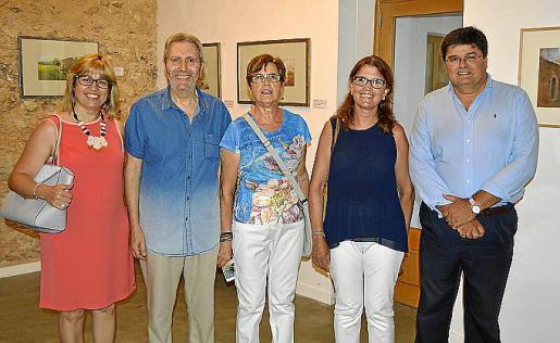 Izquierda: Jerònia Campaner, Llorenç Ferragut, Cati Drover, Petra Vicens y Llorenç Gual.