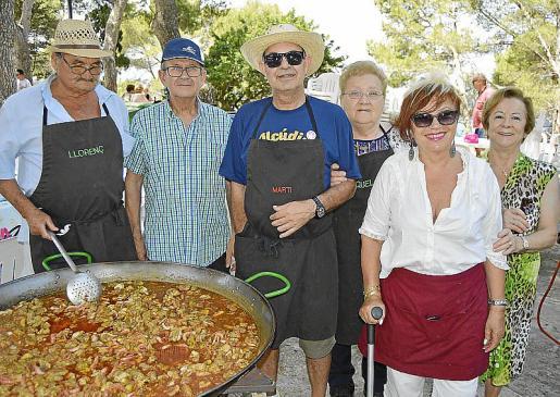 Llorenç Corró, Sebastià Serra, Martí Matas, Micaela Bauzà, Catalina Gayà y Maria Oliva.