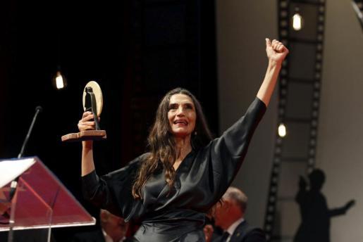 Fotografía de Archivo de la actriz Ángela Molina, que ha sido galardonada este jueves con el Premio Nacional de Cinematografía 2016, dotado con 30.000 euros, que concede el Ministerio de Educación, Cultura y Deporte a través del Instituto de la Cinematografía y de las Artes Audiovisuales.