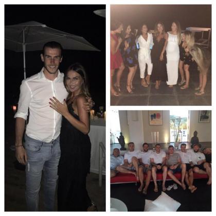Gareth Bale publicó en redes sociales una imagen junto a su novia Emma Rhys-Jones después de que dijera que sí.