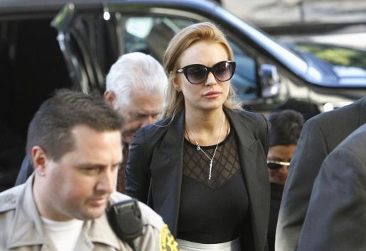 Lindsay Lohan, ha su llegada hoy al juzgado donde le ha sido comunicado que volverá a la cárcel.