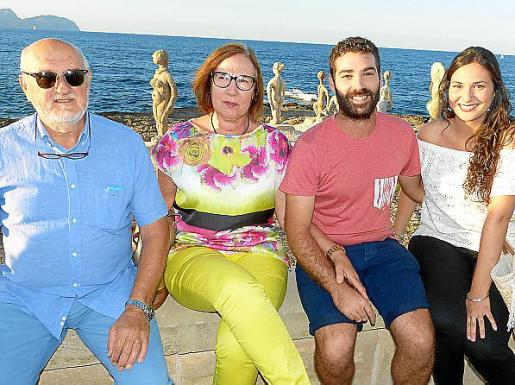 Pedro Crespí, Antonia Pons, Biel Gost y Margalida Monjo.