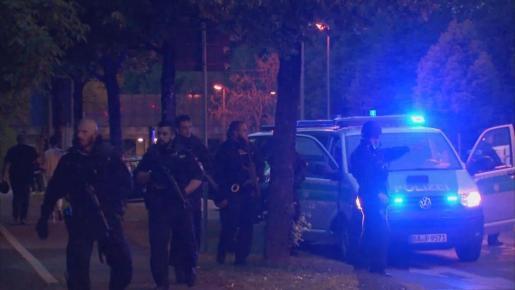 Imagen del despliegue policial en Munich.