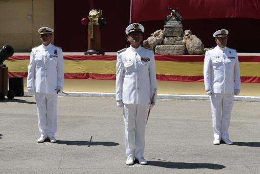 Relevo del comandante del Sector Naval de Balears en Porto Pi.