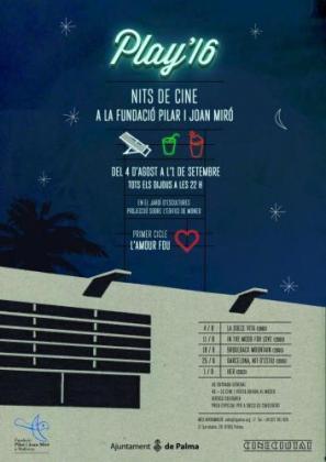 Cartel de las noches de cine de la Fundació Pilar i Joan Miró.