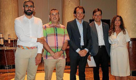 Francisco Copado, Rafael Creus, Marc Pons, Francesc Miralles y Ximena Izquierdo.