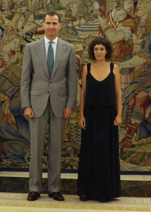 El rey Felipe recibió en el Palacio de la Zarzuela a la diputada de En Marea-Podemos Alexandra Fernández.
