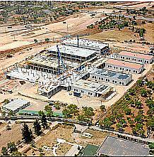 Vista del hospital de Inca durante las obras.