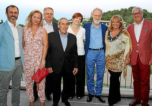 Biel Barceló, María Antonia Binimelis, Rafel Roig, Pedro Iriondo, Natasha y Nils Burtwitz, Alexandra Schörghuber y Josep Lluís Roses.