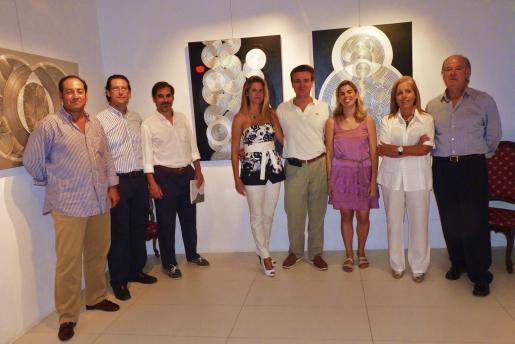 Francisco Pérez, Jaime Carbonell, Lorenzo Sbert, Eva Pascual, Luis Pujol, Lucía Coll, Juana María Ferrer y Gabriel Morell, en El Temple.