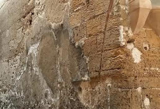 Muro en mal estado