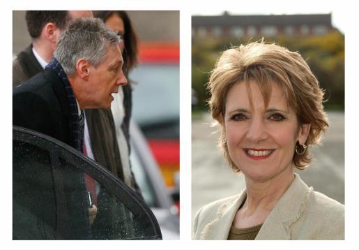 A la izquierda, Peter Robinson y a la derecha, su esposa Iris.