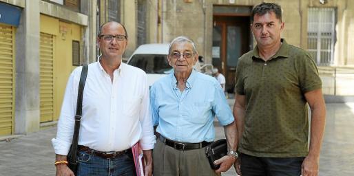 Rafel Vallespir, Miquel Obrador y Bernat Busquets.