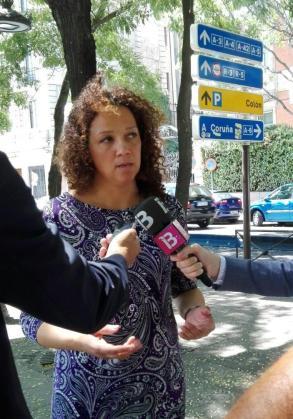 La consellera de Hacienda y Administraciones Públicas, Catalina Cladera, a su salida de la reunión este martes con el Ministerio de Economía y Hacienda en Madrid.