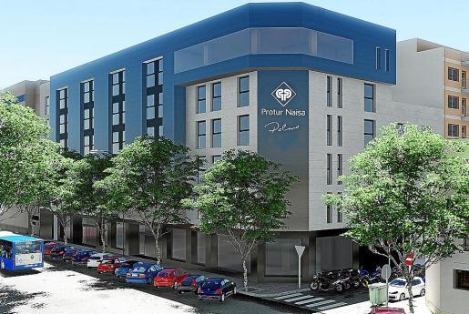 Imagen virtual de la fachada del futuro hotel Naisa de Palma.