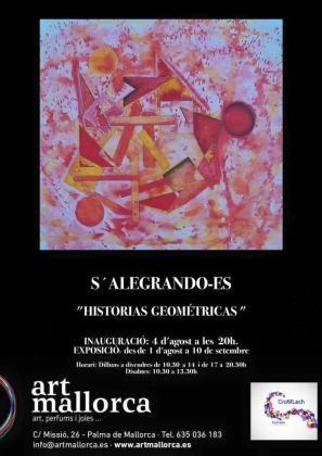 Cartel promocional de la muestra artística.