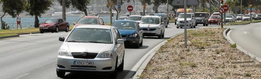 Entrada y salida de coches a la altura del Palacio de Congresos. Punto que conecta tanto a residentes como visitantes desde la autopista de Llevant al centro de Palma y el Port.