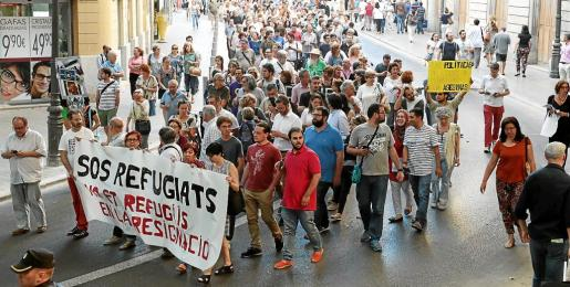 Imagen de una manifestación a favor de los refugiados, el pasado junio en Palma.