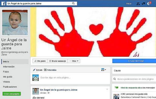 La página de Facebook anima a la donación de médula.
