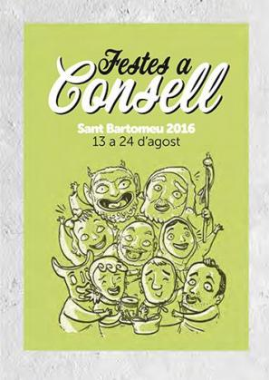 Cartel de las fiestas de Consell.