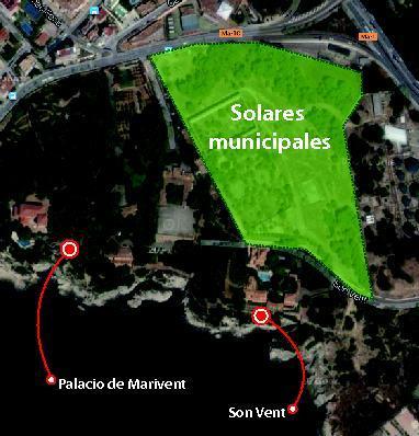 Gráfico de la ubicación de los terrenos municipales.