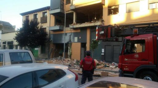 Imagen de la fachada del edificio donde se ha producido la explosión.