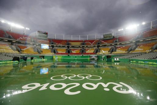 Imagen las instalaciones de tenis de los juegos de Río.
