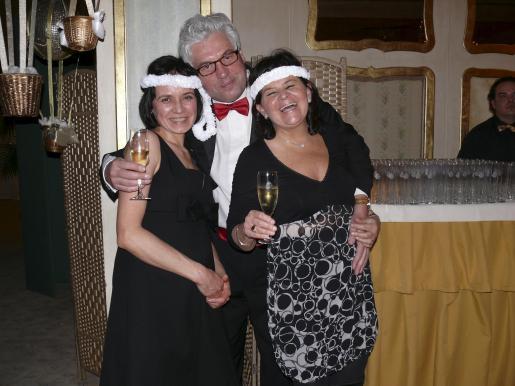 Irina Hurzog, Philippe Renson y Elvira Renson.