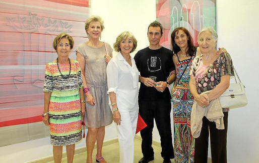 Magdalena Perelló, Anke Sevenster, Ana Maria Parets, Pedro Oliver, Susi Fernández y Pitina Mateu.