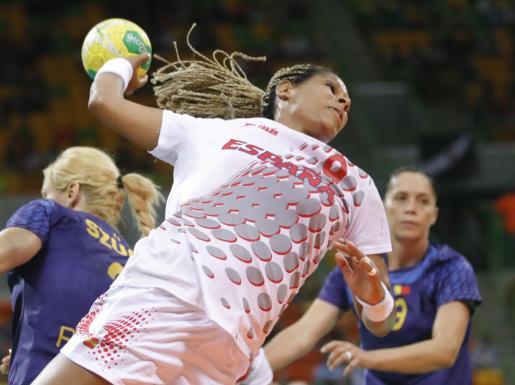 La deportista española Marta Mangué en acción.