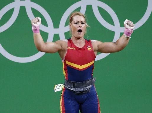Lidia Valentín tras lograr el bronce.