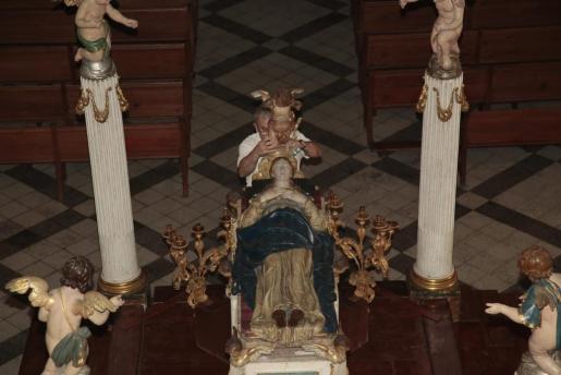 La instalación del 'llit' en Sant Jaume.