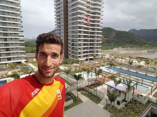 El atleta de Calvià David Bustos en la Villa Olímpica de Río.