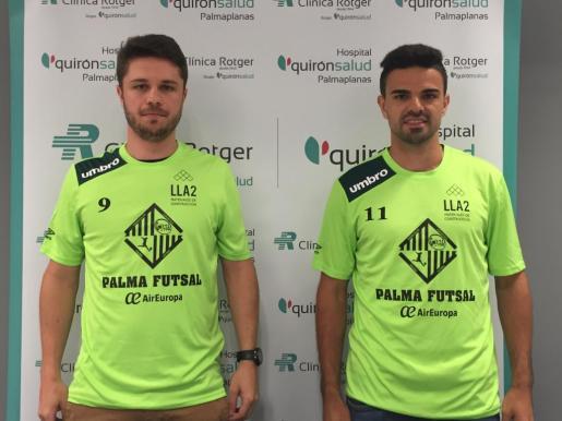 Maico y Diego Fávero, presentados como nuevos jugadores del Palma Futsal.