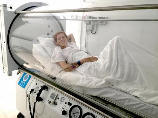 Bimba Bosé, en la cámara hiperbárica.