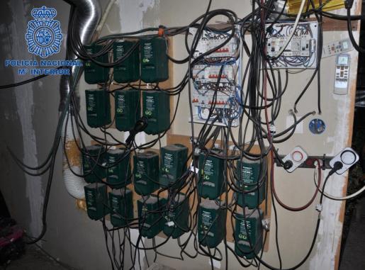 Un fallo en la conexión eléctrica ilegal que daba luz a la plantación pudo originar las llamas.