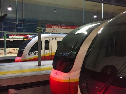 Estación intermodal de trenes de Palma.   palma estacion intermodal trenes servicio ferroviario tren palma manacor