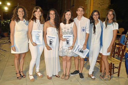 Manena Huguet, Victori Mayán, Maria Mascaró, Apol.lònia Barceló, Joan Carles Bover, Victori Bauçà y Maria Huguet.