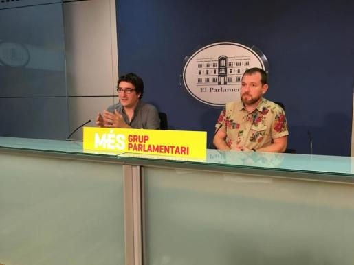 Antoni Reus y David Abril, este viernes en rueda de prensa.