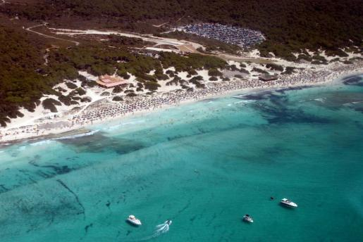 Vista de la playa de es Trenc.