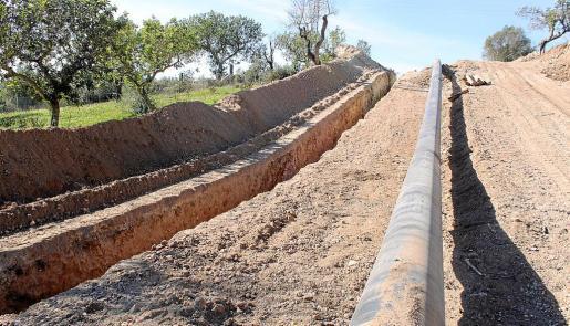 Las obras del gasoducto sacaron a la luz restos de un yacimiento arqueológico.