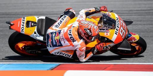 El piloto catalán del equipo Honda, Marc Márquez, durante los entrenamientos de este sábado.